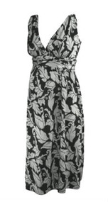 Paisley Print Ripe Limited Maternity Adjustable Tie Casual Maternity Dress (Like New - Size Medium)