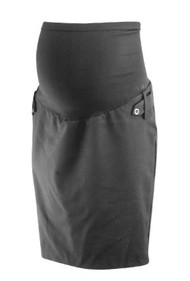 Black Motherhood Maternity Career Maternity Pencil Skirt with Back Slit (Like New - Size X-Small)