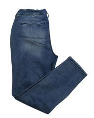 *New* Blue Destruction Indigo Blue Maternity Capri Maternity Jeans (Size X-Small)