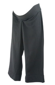Black JW Japanese Weekend Maternity 3/4 Wide Leg Maternity Pants (Like New - Size Small)