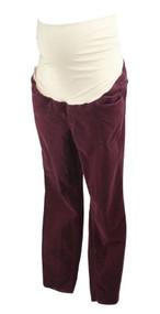 Maroon Ann Taylor Loft Maternity Skinny Maternity Corduroy Pants (Like New - Size 12)