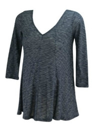 Blue A Pea in the Pod Maternity V-Neck Casual Maternity Top (Gently Used - Size X-Small)
