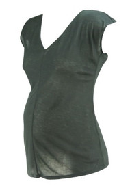 *New* Black A Pea in the Pod Maternity Wide V-Neck Maternity T-Shirt (Size X-Small)