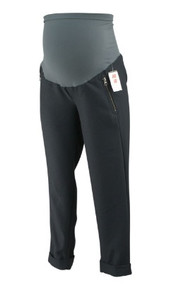 *New* Gray A Pea in the Pod Maternity Side Zipper Detailed Cuffed Versatile Maternity Pants (Size Medium)