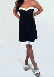 *New* Black & White Trim Nicole Michelle Maternity Color Block Mini Dress (Size - Medium)