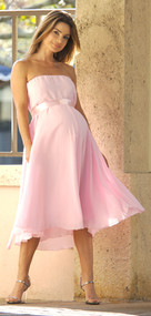 *New* Baby Pink Nicole Michelle Maternity Chiffon Dress (Size Small)