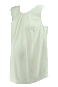*New* Cream A Pea in the Pod Maternity Sleeveless Scoop Neck Maternity Blouse (Size Large)