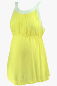 Lemon Yellow A Pea in the Pod Maternity Scoop Neck Belted Career Maternity Blouse (Like New - Size Large)