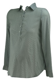 *New* Gray and White Pin Stripe A Pea in the Pod Half Button Down Versatile Maternity Blouse (Size X-Small)