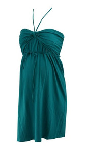 Turquoise Motherhood Maternity Adjustable Straps or Strapless Special Occasion Maternity Dress (Like New - Size Small)