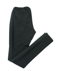 *New* Black A Pea in the Pod Maternity Full Panel Tuxedo Trim Side Ribbed Versatile Maternity Pants (Size Small)