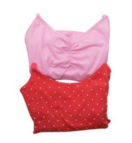 Light Pink and Hot Pink with Polk-A-Dots Motherhood Maternity Maternity Nursing Tank Tops (Gently Used - Size Small)