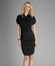 Black Isabella Oliver Maternity The Urban Ruched Twist dress (Gently Used - Size 0 / 0-2 USA)