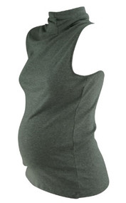 Gray GAP Maternity Sleeveless Turtle Neck (Gently Used - Size Large)
