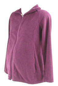 Plum Old Navy Maternity Active Wear Zip-Up Maternity Sweatshirt (Gently Used - Size Small)