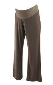 Chocolate Brown JW Japanese Weekend Maternity Slinky Dressy Maternity Pants (Gently Used - Size Medium)