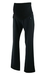Black Motherhood Maternity Career Maternity Pants with Button Detail (Gently Used - Size Small)