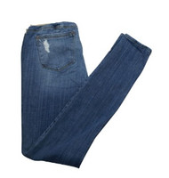 Light Blue Distressed Skinny Maternity Jeans by Sold Design Lab for A Pea in the Pod Collection Maternity (Like New - Size Small)