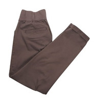 Brown Mocca GAP Maternity and Broke-ln Straight Khaki Cropped Maternity Pants (Second Hand - Size 6)