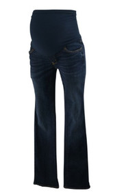 Dark Blue A Pea in the Pod Maternity Boot Cut Maternity Jeans (Gently Used - Size 28)