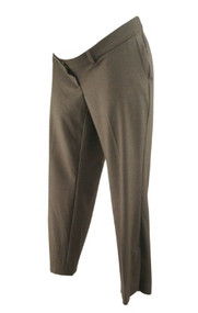 Chocolate Brown A Pea in the Pod Maternity Versatile Ankle Maternity Pants (Like New - Size Medium)