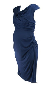*New* Blue Navy A Pea in the Pod Maternity Ruched Special Occasion Maternity Dress (Size Medium)