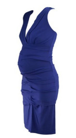 *New* Electric Purple Artelier by Nicole Miller for A Pea in the Pod Maternity Collection Special Occasion Maternity Dress (Size Medium)