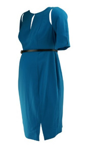*New* Azul Blue Belted Career Maternity Dress by A Pea in the Pod Collection Maternity (Size Small)