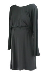 *New* Black Max and Cleo Maternity Scoop Neck Wrap Maternity Dress for A Pea in the Pod Collection Maternity (Size Large)