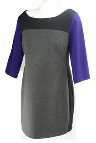 *New* Gray and Purple Color Black A Pea in the Pod Maternity Career 3/4 Sleeve Maternity Dress (Size Large)