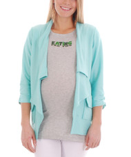 *New* Mint Everly Grey Maternity McKenna Collared Blazer Cut Cardigan (Size - X-Small)