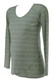 Light Gray A Pea in the Pod Maternity Long Sleeve Casual Maternity Thermal (Gently Used - Size X-Small)