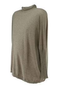Taupe 5F Bergdorf Goodman Turtle Neck Loose Autumn Sweater (Like New - Size X-Small)