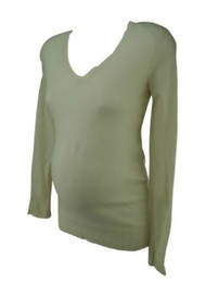 Cream A Pea in the Pod Collection Maternity Loose Fit Maternity Sweater (Size Small)