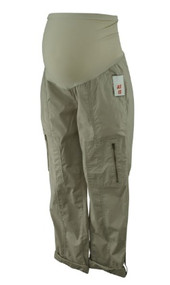 *New* Tan Brown A Pea in the Pod Maternity Adjustable Length Cargo Maternity Pants (Size Small)