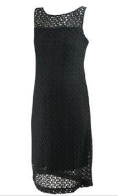 *New* Black Crochet A Pea in the Pod Maternity Sleeveless Maternity Dress (Size Large)