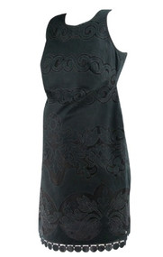 *New* Black Swirl Cut Out Design Ivy & Blu for A Pea in the Pod Maternity Collection Maternity Dress (Size Small)