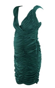 *New* Forest Green A Pea in the Pod Maternity Ruched Special Occasion Maternity Dress (Size Medium)