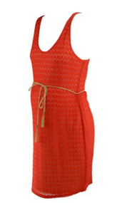 *New* Burnt Orange Sanctuary Maternity Belted Crochet Versatile Maternity Dress (Size Large)