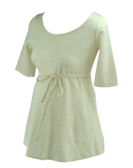 *New* Cream Paisley Print A Pea in the Pod Maternity Peplum Maternity Top (Size Medium)