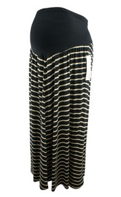 *New* Beige and Black Motherhood Maternity Plus Size Maxi Maternity Skirt (Size XXX-Large)