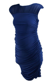 *New* Ash Blue A Pea in the Pod Maternity Ruched Versatile Maternity Dress (Size Medium)