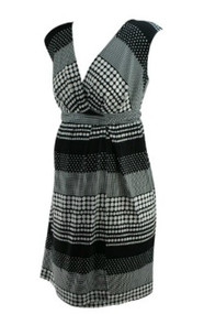 *New* Black A Pea in the Pod Polk-A-Dot Sleeveless Faux Wrap Maternity Dress (Size Small)