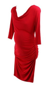 *New* Cherry Red A Pea in the Pod Maternity Maternity Dress (Size Large)