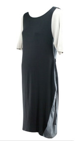 *New* Black and Gray A Pea in the Pod Collection Maternity Dress (Size Large)
