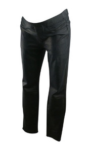 Black Jen7 Maternity Scale Print Faux Leather Maternity Pants (Size 8)