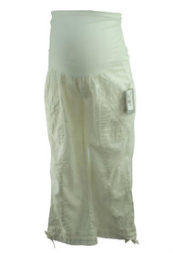 *New* Pearl White A Pea in the Pod Maternity Collection Maternity Cargo Pants (Size Medium)