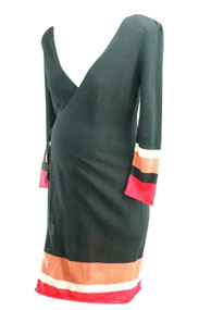 *New* Black Maternity Wrap Sweater Dress by Catherine Malandrino for A Pea in the Pod Maternity (Size Large)