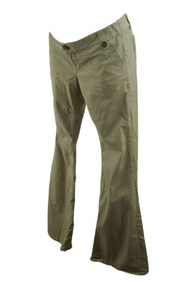 Beige GAP Maternity Casual Flare Maternity Pants (Like New - Size 6 Regular)