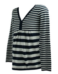 Navy GAP Maternity Striped Long Sleeve Maternity Baby Doll Sweater (Like New - Size Medium)